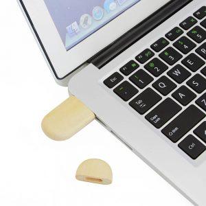 Houten USB Ovaal