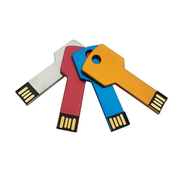 Aluminium Sleutel USB Sticks in verschillende kleuren en te bedrukken met logo