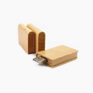 Houten USB Boek