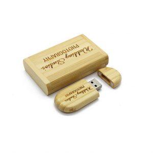 Giftbox Hout Ovaal USB