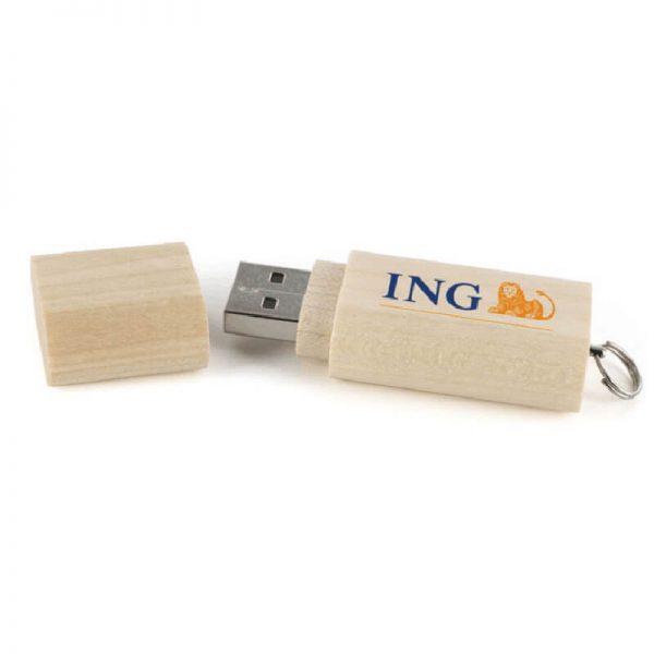 houten usb stick met logo
