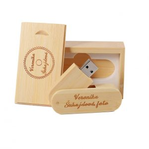 Luxe giftbox + USB (hout)